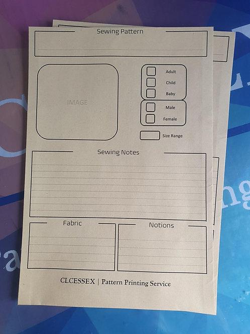 Printed Storage Envelope x 5
