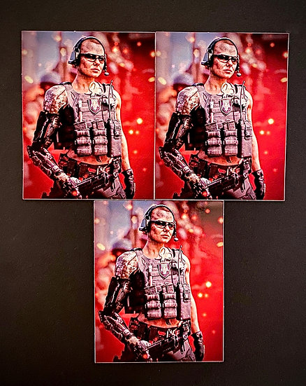 """Cyborg"" Sticker 3-Pack"
