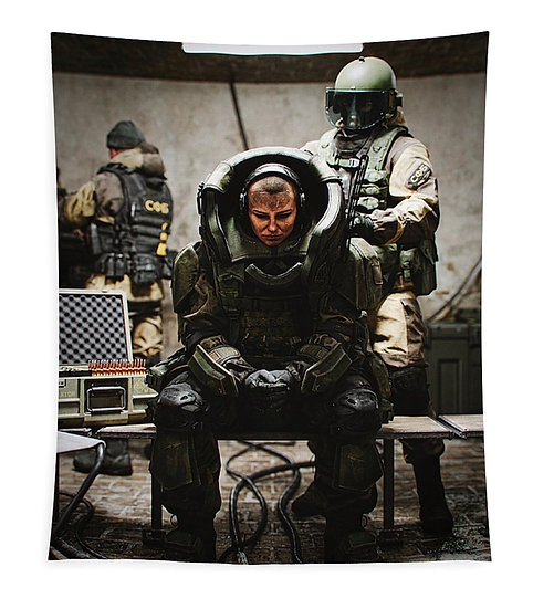 "Juggernaut Jade Tapestry 50""x61"""