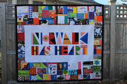 Norwalk Has Heart Quilt Finished