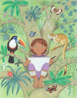 Artist in the rainforest