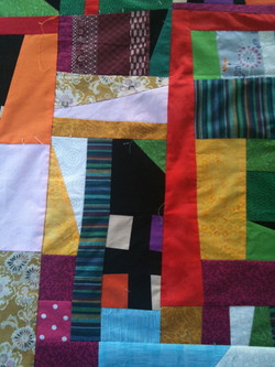 Detail of Lizzy's Improv Quilt