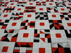 Paper design in fabric