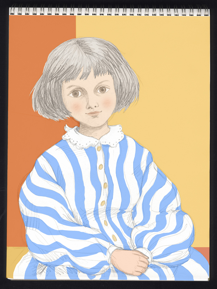 Alice Liddell with stripes