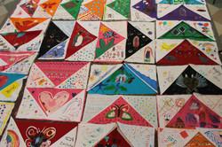 Fabric art made by children