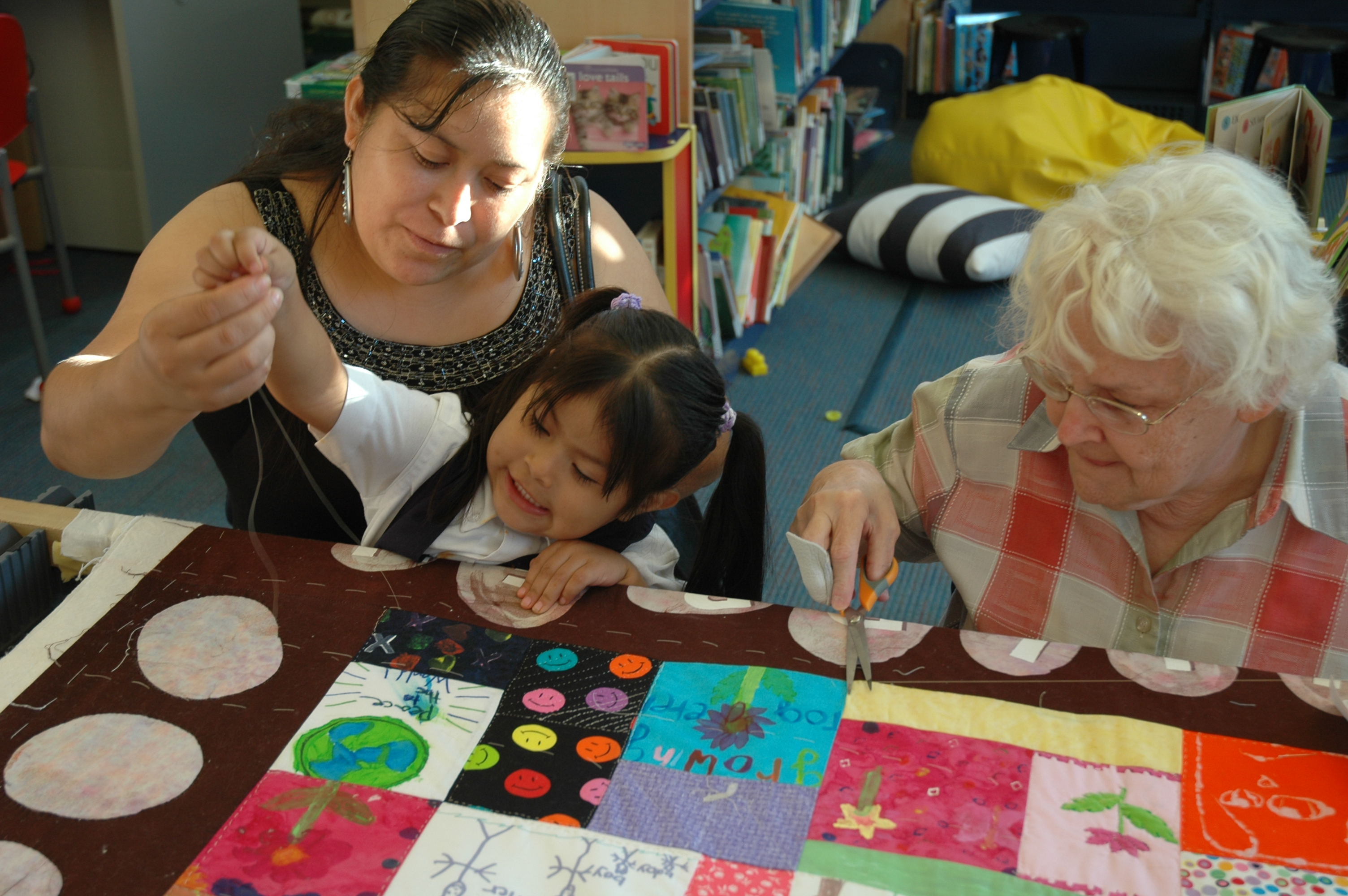 Quilting bee at Blackrock LIbrary