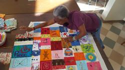 Fabric art patchwork