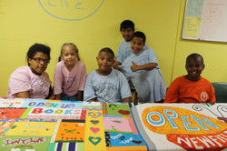 Quilting bee at Hall