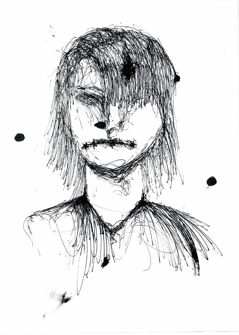 Charlie, Ink portrait