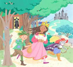 Fairytale escape scene