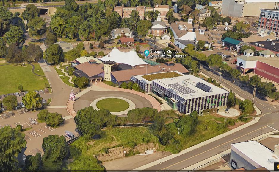 Google map satellite view of museum