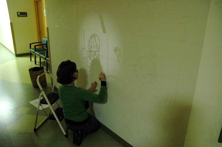 Using Projector to Transfer Sketch