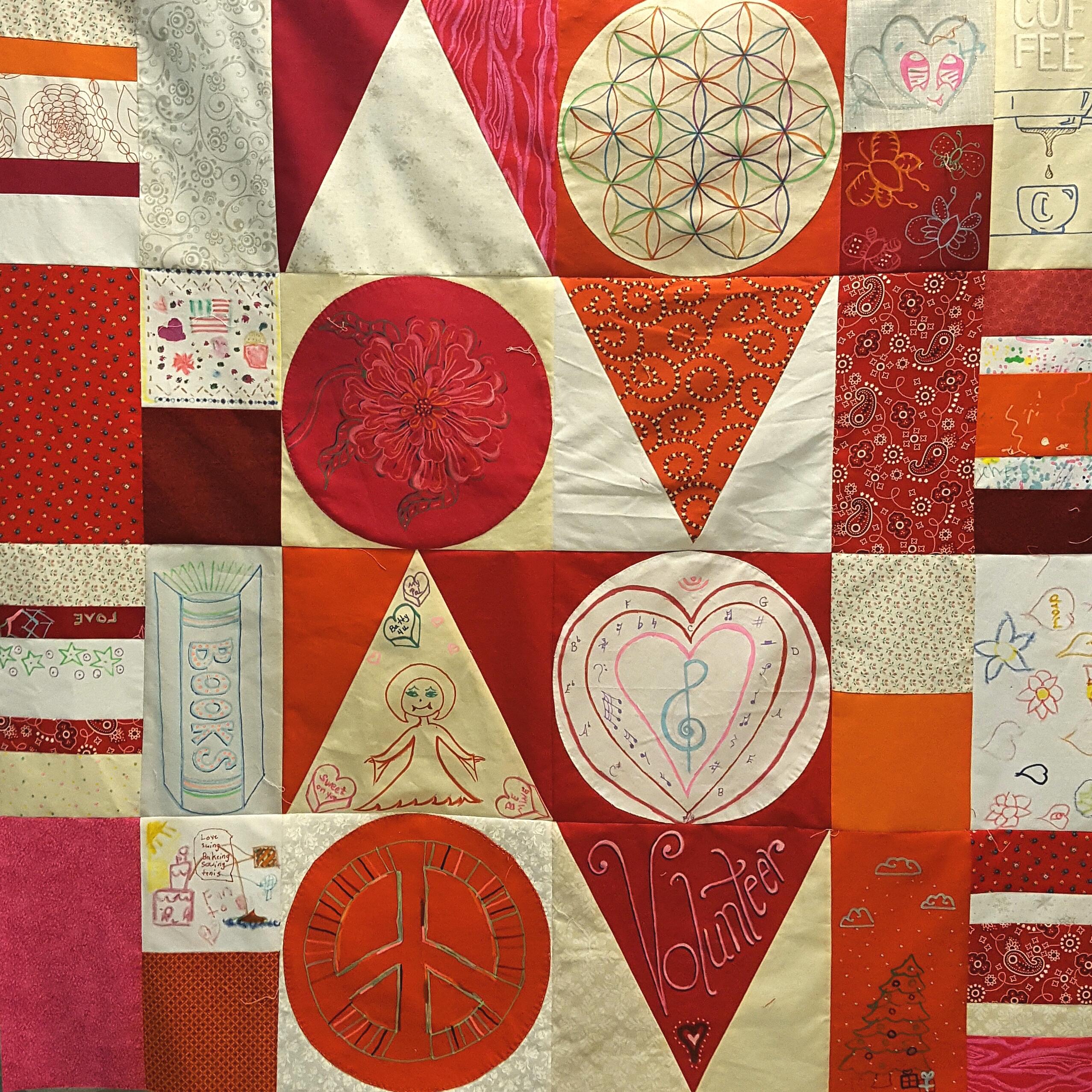 LOVE letters center panel