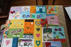 Hall Neighborhood House fabric art