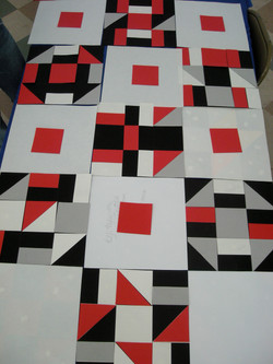 Paper collages for Flagship Quilt