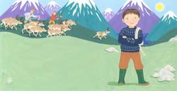 Samii with Reindeer