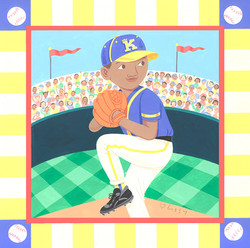 Baseball Pitcher on the Mound