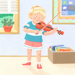 Kate Playing the Violin