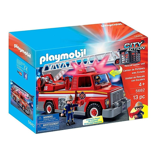 Playmobil City Action - Camión de bomberos con Luz y Sonido