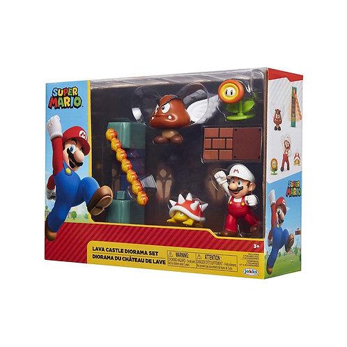 Super Mario -  Lava Castle Diorama Set