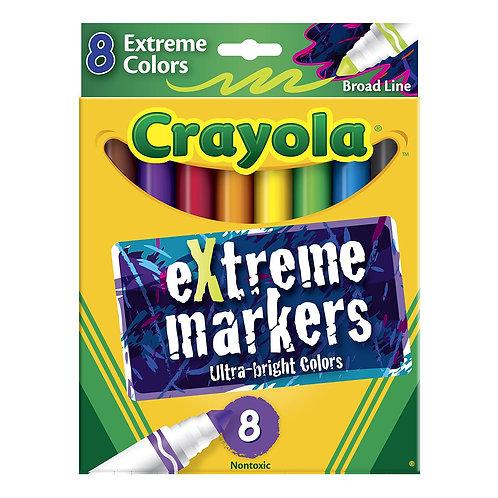 Crayola - Marcadores Colores Brillantes x8
