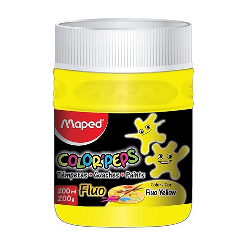 Tempera Fluo - Maped Pote x250grs