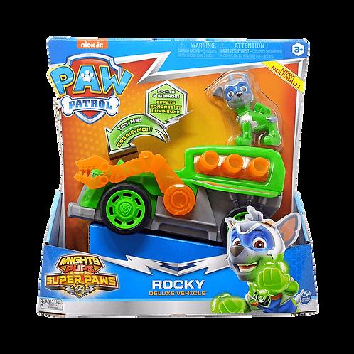 Paw Patrol - Rocky VehiculoMighty Pips c/Luz y Sonido