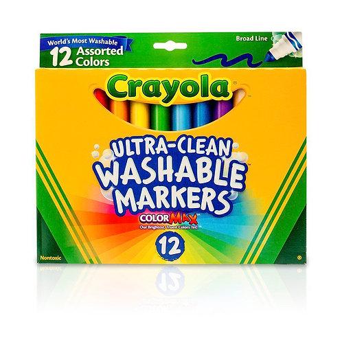 Crayola - Marcadores Lavables x 12