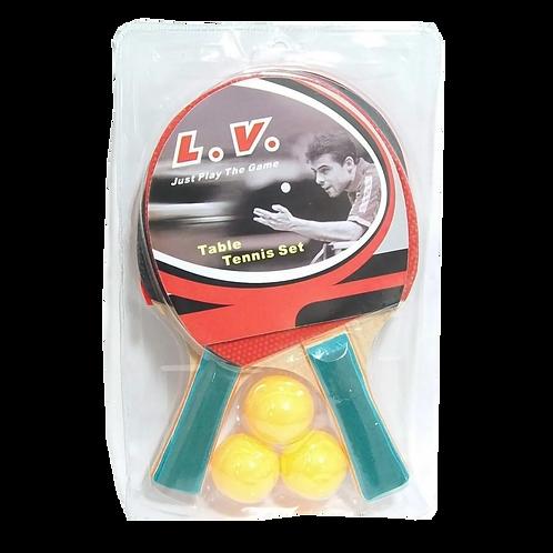 Pin Pon - Raquetas y pelotas