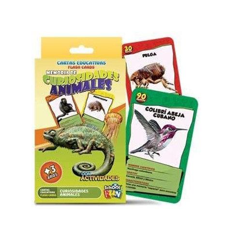 Memoria de Curiosidades Animales - Cartas Educativas School Fun