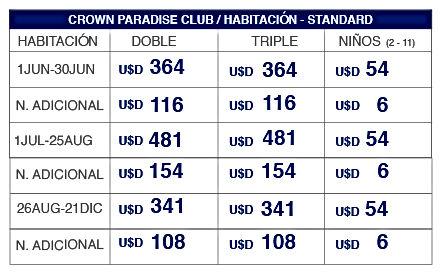 Tabla Tarifa Crown Paradise_Mesa de trab
