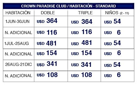 Tabla Tarifa Crown Paradise_Mesa de trab