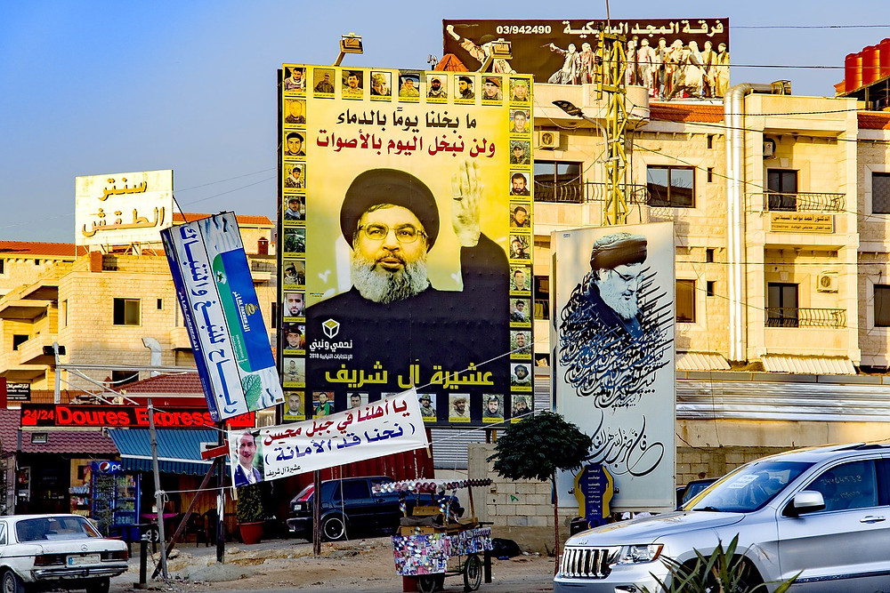 Posters of Hezbollah leader Hassan Nasrallah (Photo: djedj/Pixabay)