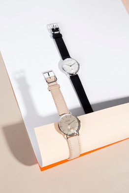 NOMOS GLASHÜTTE STILL LIFE SHOOT Publication in Material Magazine and as Customer Greeting Cards