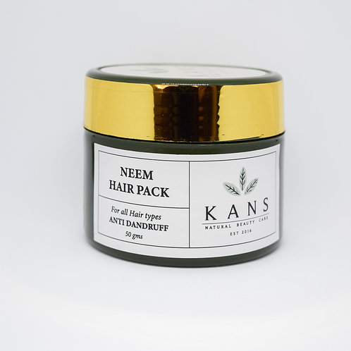 Anti Dandruff Neem Hair Pack - 100% Natural