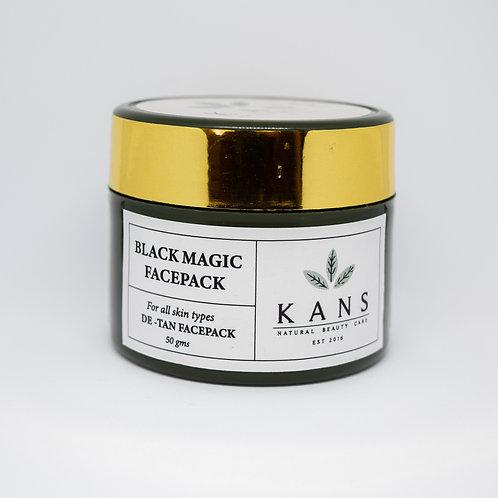 De Tan Black Magic Face Pack - 100% Natural