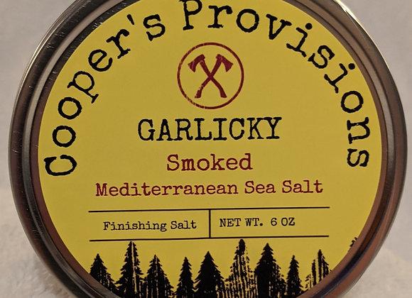 """""""Garlicky"""" Smoked Mediterranean Sea Salt"""