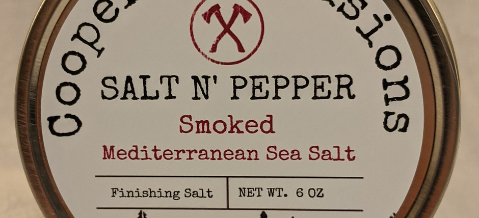 """Salt and Pepper"" Smoked Mediterranean Sea Salt"
