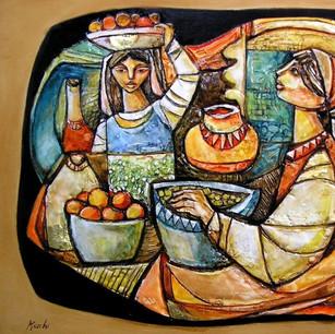 La frutta bassorilievo in pasta ceramica