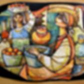 1'la frutta'bassorilievo in pasta cerami