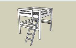 Vyvýšená postel (dvojlůžko)