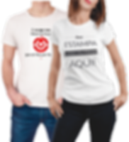 camisetas para uniformes, brindes e festas