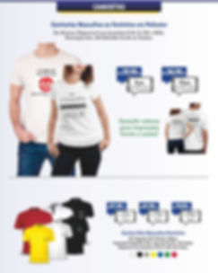 camisetas para brindes, uniformes e festas