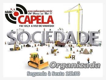 programa sociedade organizada rádio capela fm vinhedo
