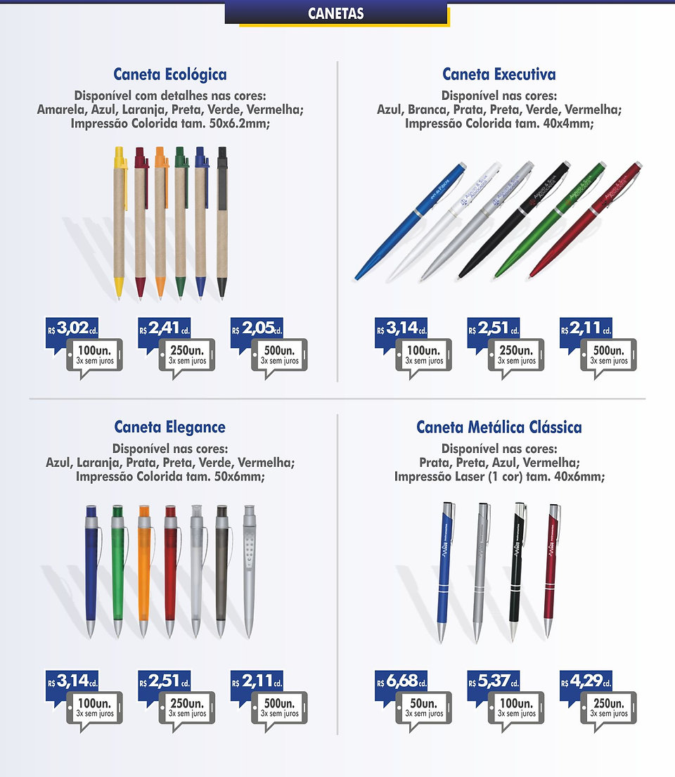 brindes promocionais canetas personalizadas