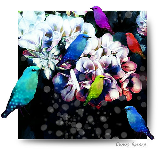 "Fine art print from the ""Birds of a Feather"" series by Emma Barone"