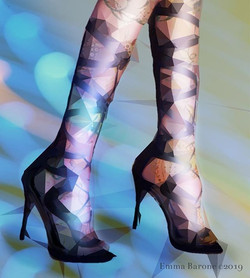 Emma Barone, Geometric Shoes