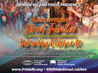 RI Pride Hosts Halloween Street Jubilee 10/30
