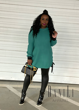 Stay Laced Sweater Dress