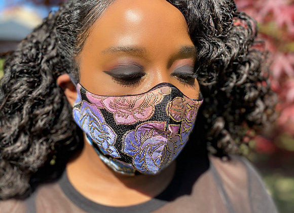 Floral Jacquard Mask